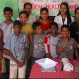 Happy campers ! - A smiling moment after a successful camp with the children and working staff of the NGO