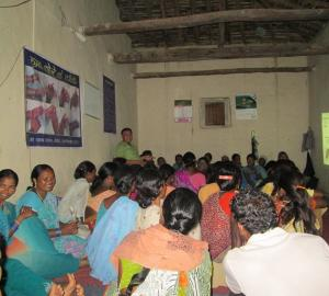 SESSION FOR TRAINING OF COMMUNITY ORAL HEALTH WORKERS USING PICTURE BOOK, VIDEOS, WORKSHEETS, DEMONSTRATION USING MODELS